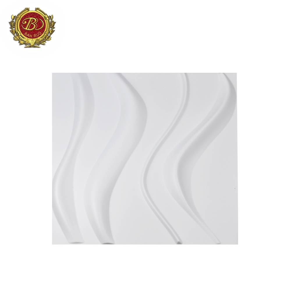 Banruo Wholesale 50*50 CM 3D PVC Ceiling Tiles House Wall Panels for Home Decorations