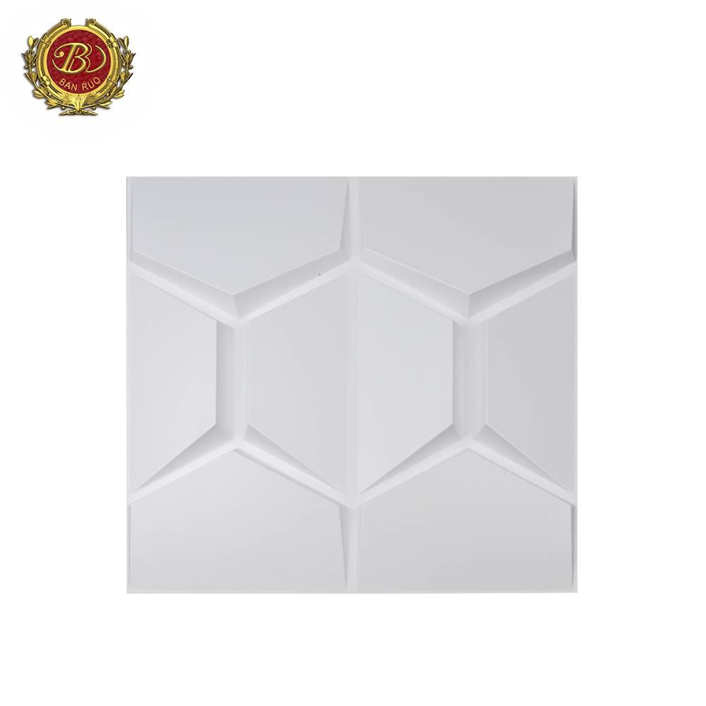 Banruo Matte High Quality 50*50 CM 3D PVC Wall Panels Interior Decorative Panels