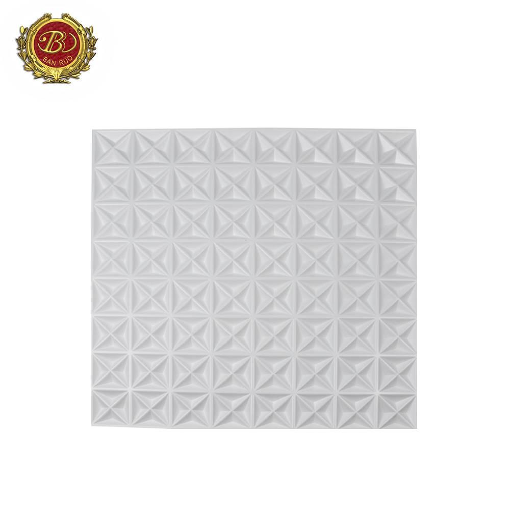 Banruo New Arrival 3D Brick Wallpaper 50*50CM PVC Wall Panel 3d Wall