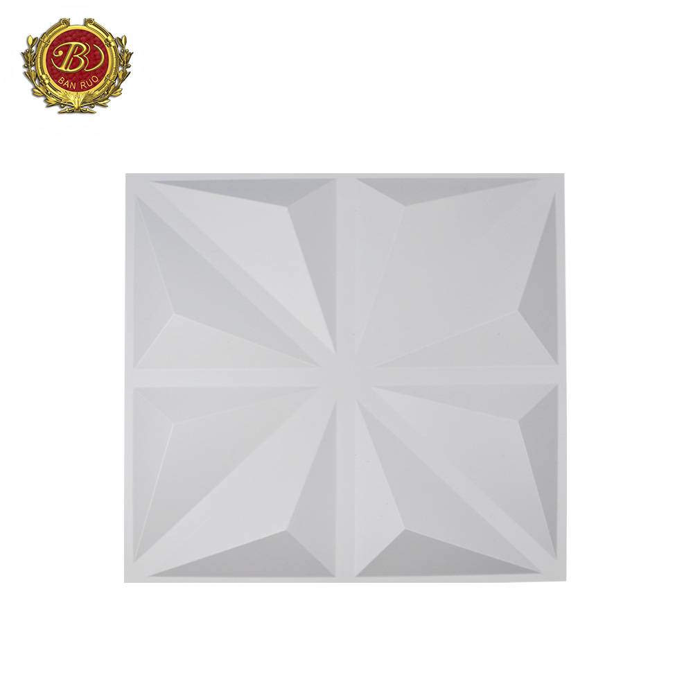 Banruo High Quality Cheap 50*50CM 3D PVC TV Background Wall Decorative Hardboard Wall Panels