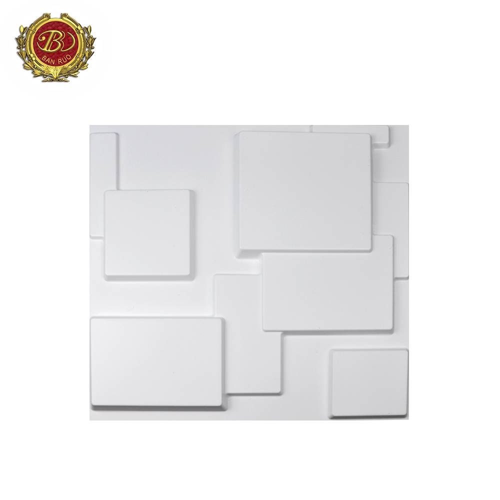 Banruo Wholesale Low Price 3D 50*50CM PVC Wall Wall Art for Living Room for House Decor