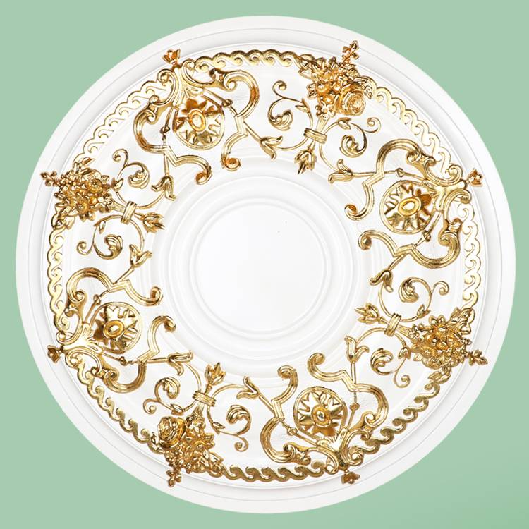 Banruo New Arriving Crown Decorative PU White Standard Ceiling Tiles Medallion Panel Board For Hotel Ceiling