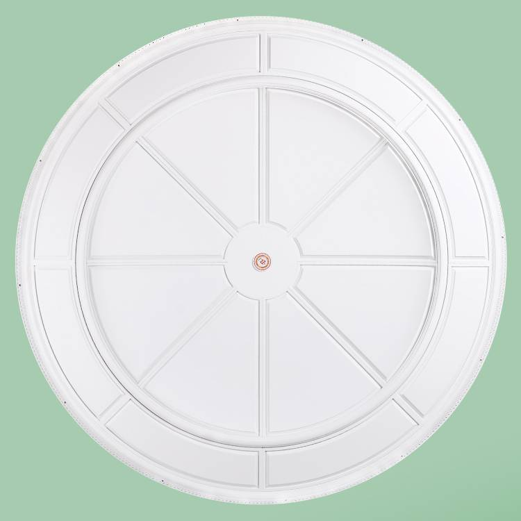 Banruo European Style Decorative PU White Ceiling Panel Design Crown Medallion Board Panel For Lighting Decor