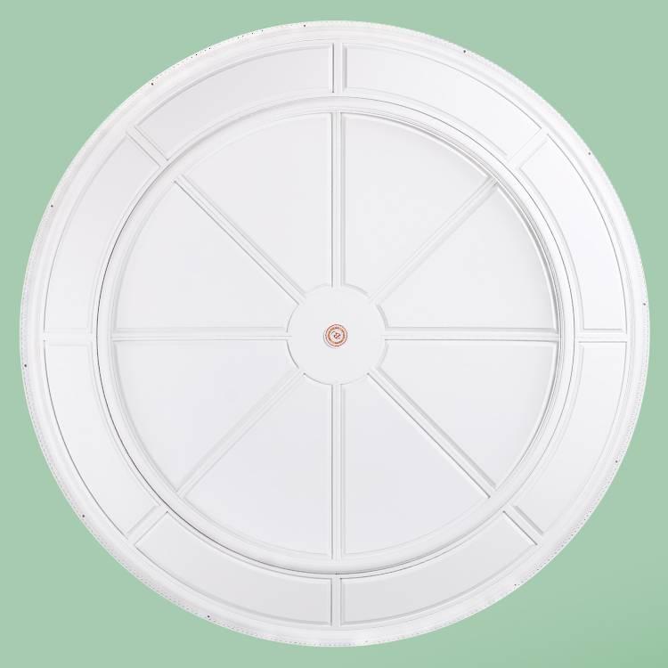 Banruo European Style Decorative PU White Ceiling Panel Design Crown Medallion Board Panel For Lighting Decor