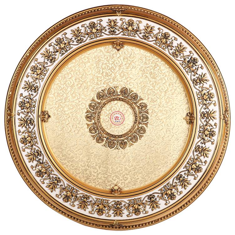 Banruo new artistic style flower carved plastic PS cheap ceiling medallions for home decoration