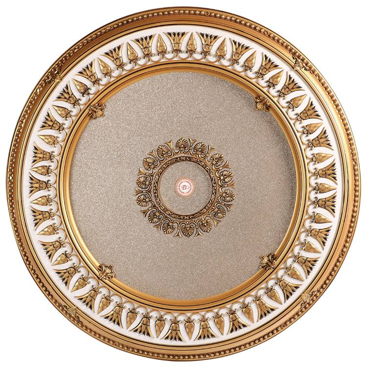 Banruo new artistic style flower carved top wall board plastic ceiling medallion ceiling tile designs for decor