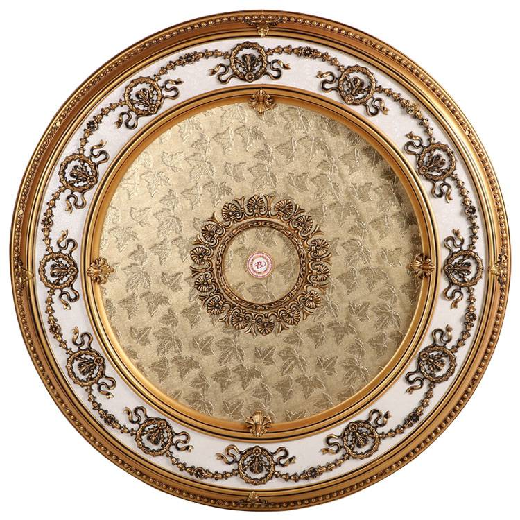 Banruo New Arrival Decorative Plastic PS Top Wall Tiles Chandelier Ceiling Plate For Home Decoration