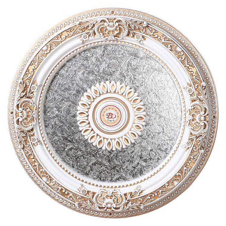 Banruo High Quality Ornate Classic Gypsum Decorative Round House Ceiling Tiles