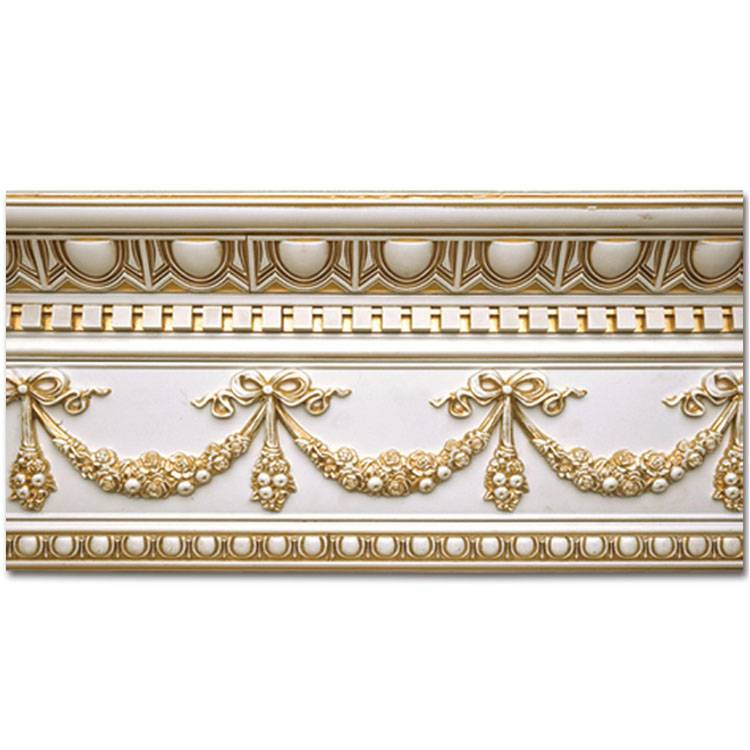 Banruo New Arrival European Style Silver Cornices Best Crown Molding for Ceilings Design