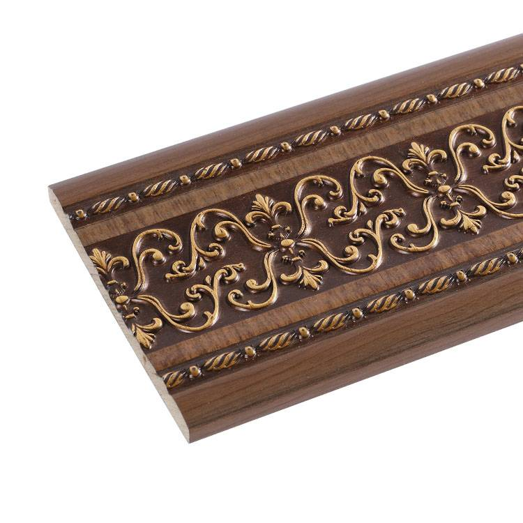 Banruo New Style PS Decorative Carved Wall Line Panel Cornice Custom Crown Molding For Decor