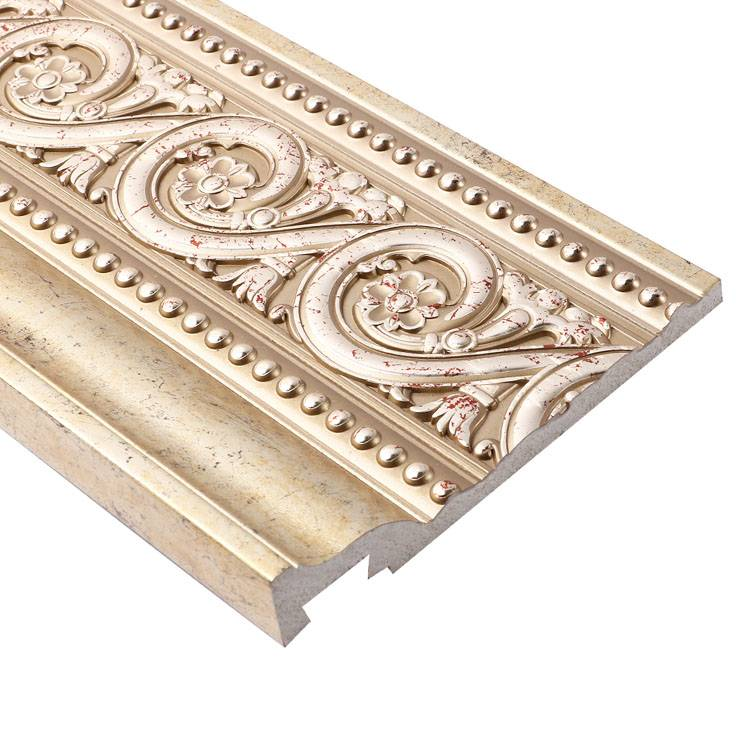 Banruo Architectural Molding Polystyrene Decorative Carved Curtain Track Line Frame Moulding For Interior Window Decoration
