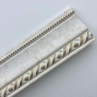 White Worn Pop Cornice Decorative Crown Moulding Crown Molding Styles