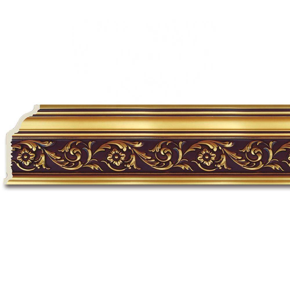 PVC PS Material Flower Baseboard Moulding Styles Crown Molding Decoration for Ceiling Wall