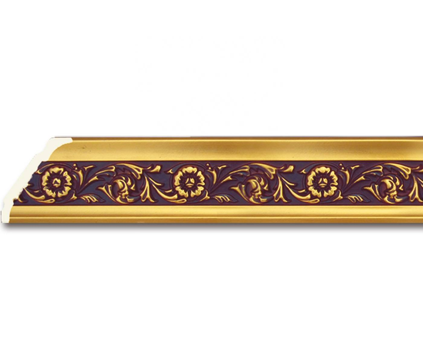 PS Flower Plastic Plain Baseboard & Crown Molding for Ceiling Wall Decor Frame Molding