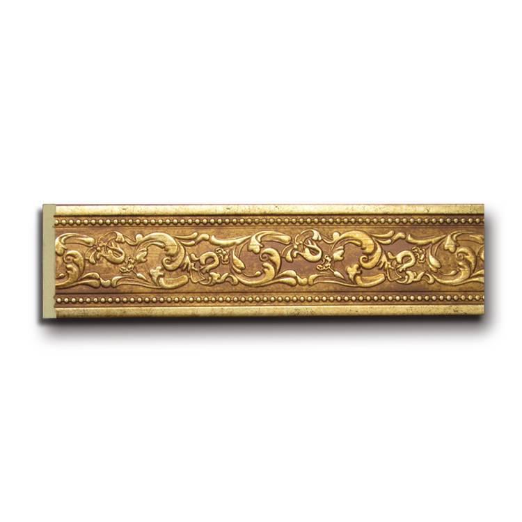 Banruo classic wood like PS carved cornice frame moulding line vintage mirror frame for indoor decoration