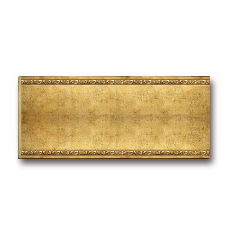 Banruo Simple Style Gold Polystyrene Decorative Crown Cornice Moulding Baseboard Molding Sizes
