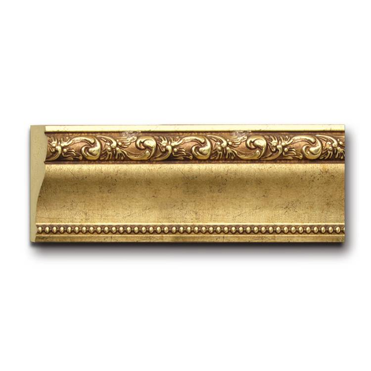 Banruo Classical Style Wood Color 3D PS Frame Line Cornice Frame Trim Moulding Skirting Board for Building Decoration