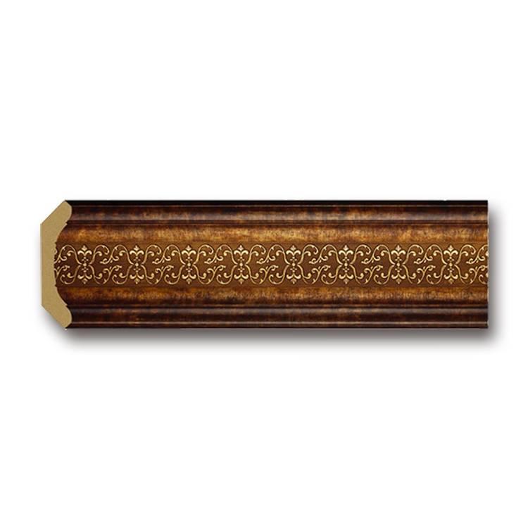 Banruo Polystyrene European Style Wood Like Carve Flower Cornice Crown Moulding