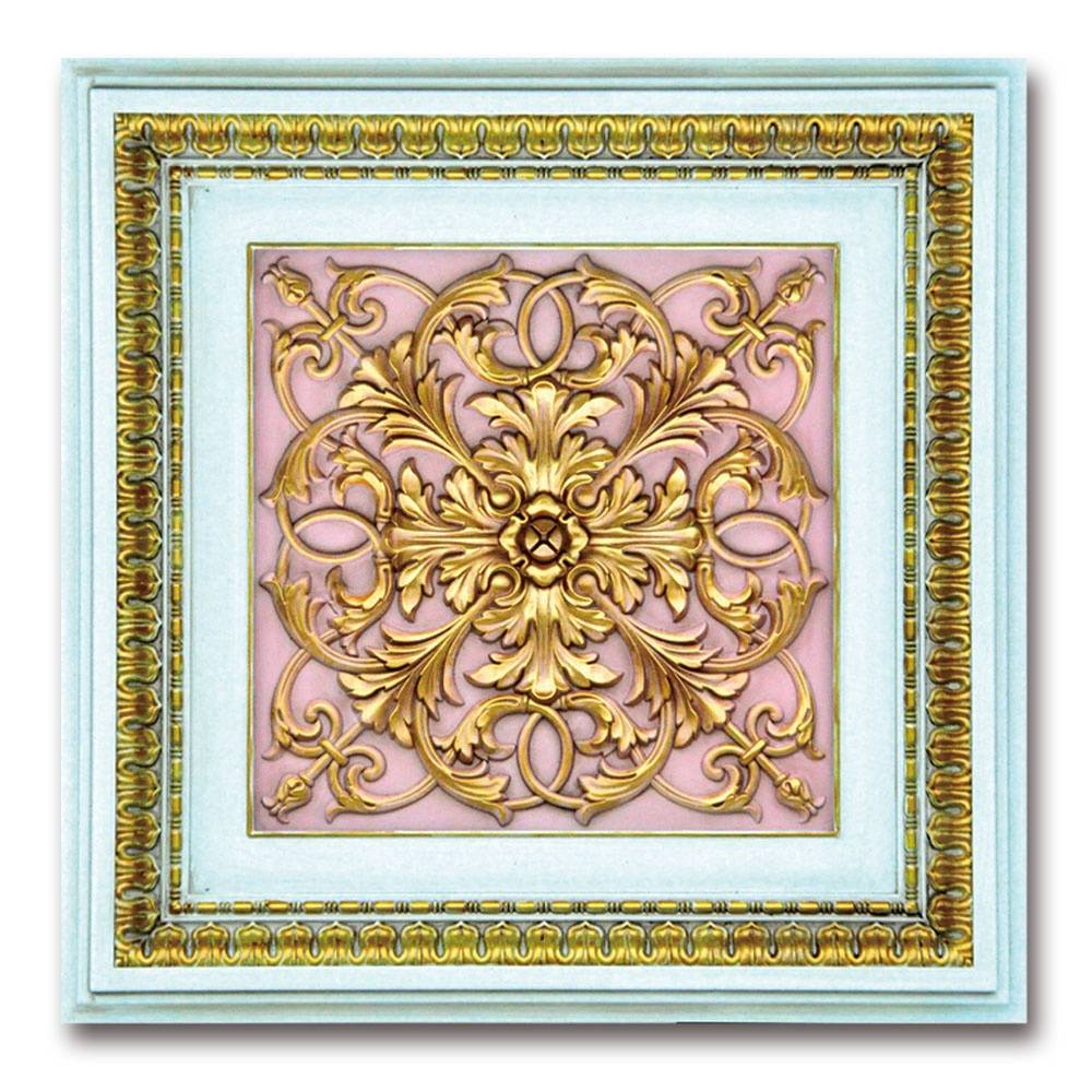 Banruo PS Gypsum PVC Square LED Light Panel Ceiling Board Modern Ceiling Tiles for Interior Decor