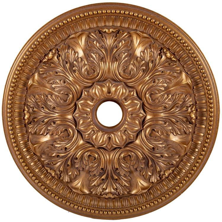 Banruo luxurious design plastic PS suspended ceiling tiles medallion for villas building decoration