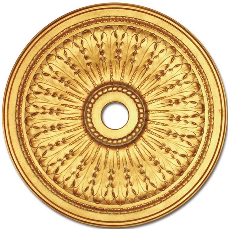Banruo round classical sculpture ceiling medallion PU designer ceiling tiles panel board