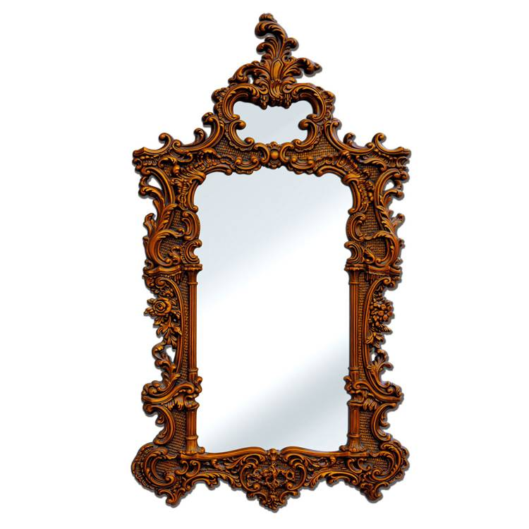 Banruo European Handmade Brown PS PU Cheap Mirror Frames Photos Frames Moulding For Wall Decoration
