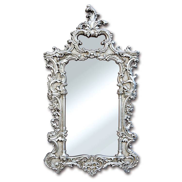 Banruo European Artistic Style Silver PS PU Mirror Trim Photos Frame Moulding For Wall Decoration