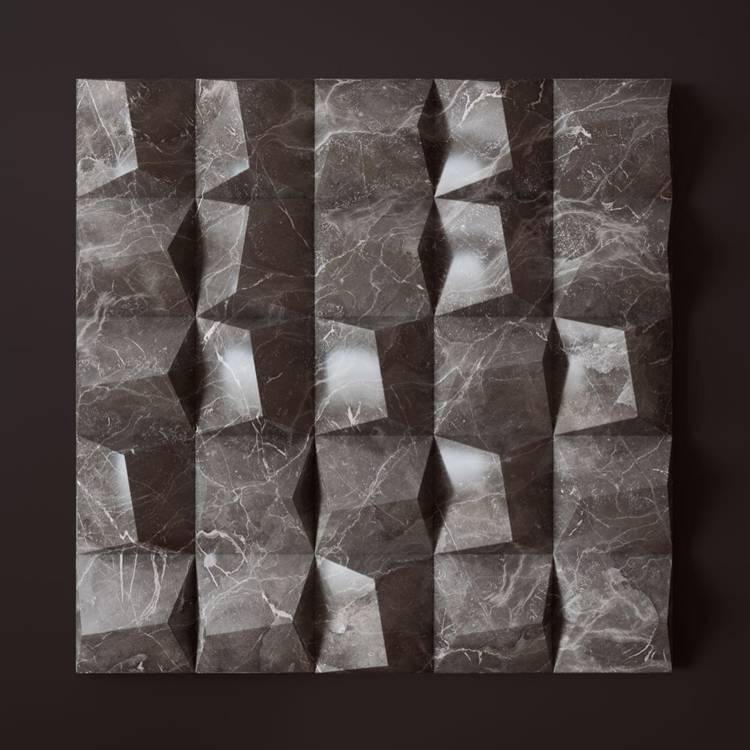 Banruo Wholesale Quick Install PU Plastic Faux Marble 3D Fancy Wall Paneling For Office Decoration