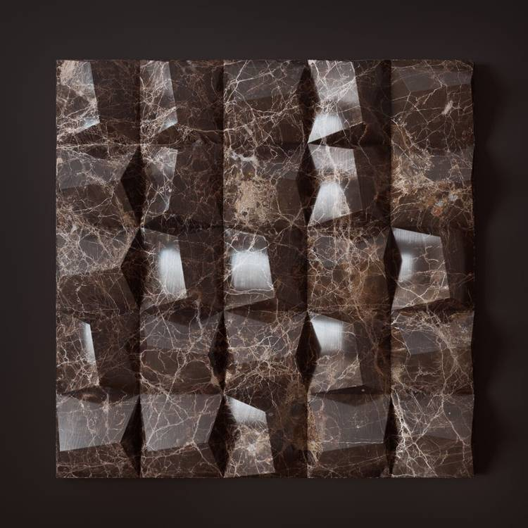 Banruo Wholesale Quick Install PU Faux Marble TV Background Panel 3d Wall For Office Decoration