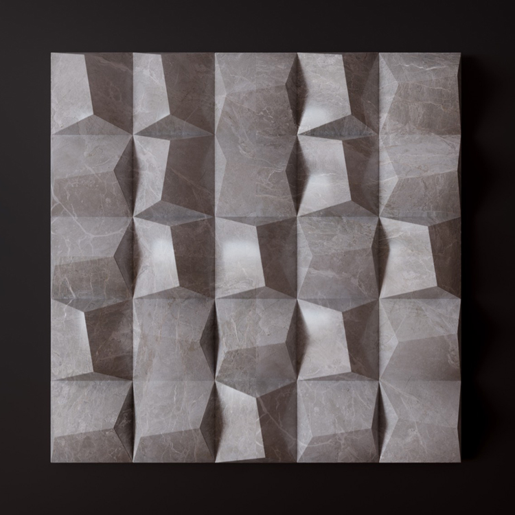 Banruo New Arrival Quick Install PU Plastic Marble Color 3D Wall Tiles For Lounge Decoration