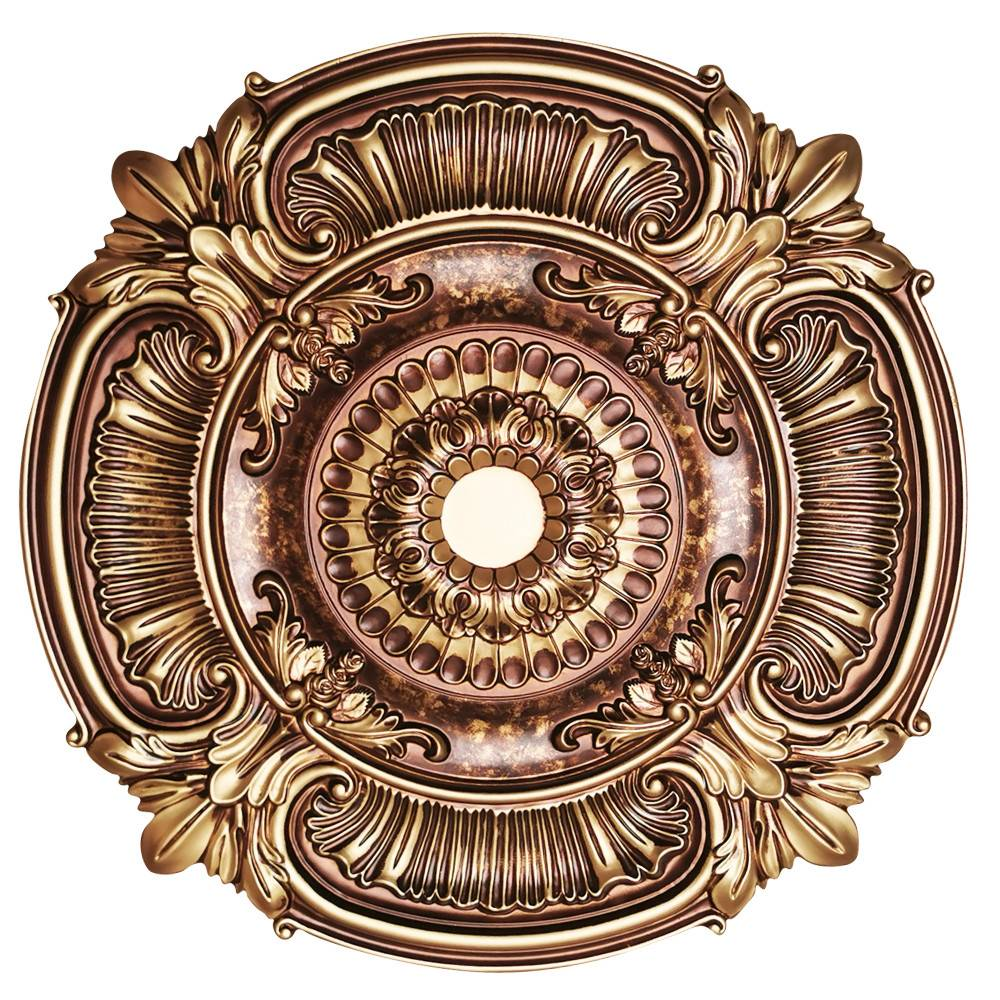Banruo Classic Round PU Basic Ceiling Tiles Medallion For Interior Lighting Decor