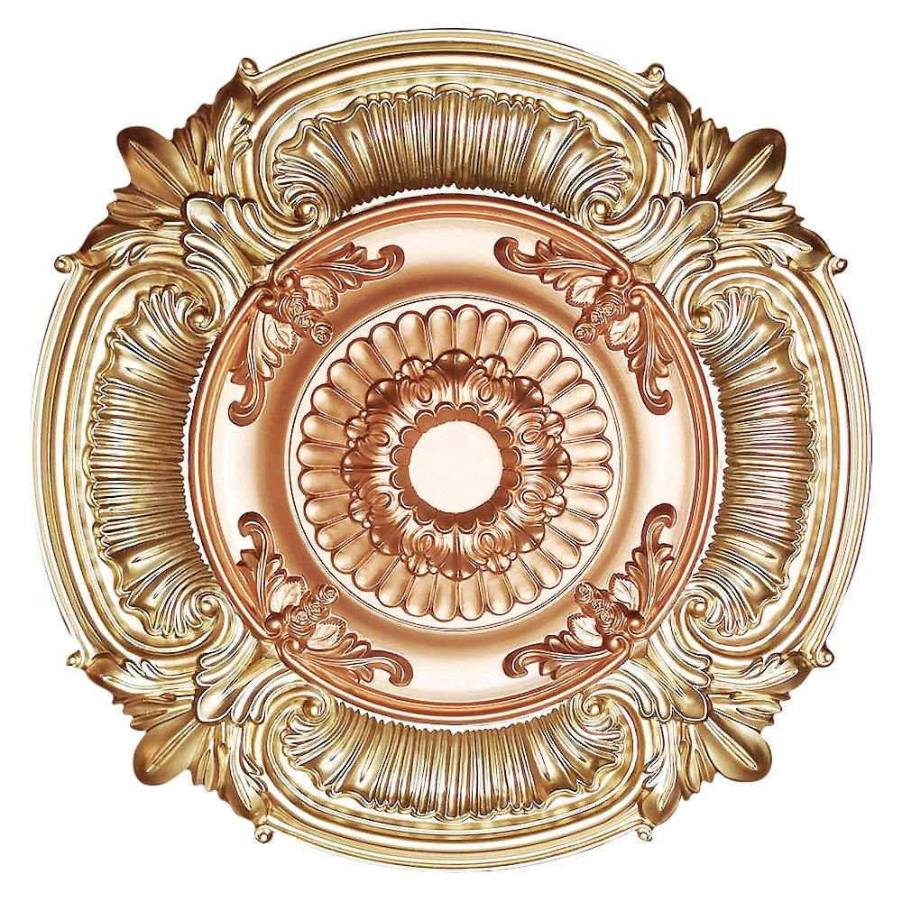 Banruo Luxury PU Ceiling Panel Tiles Medallion For Interior Lighting Decor