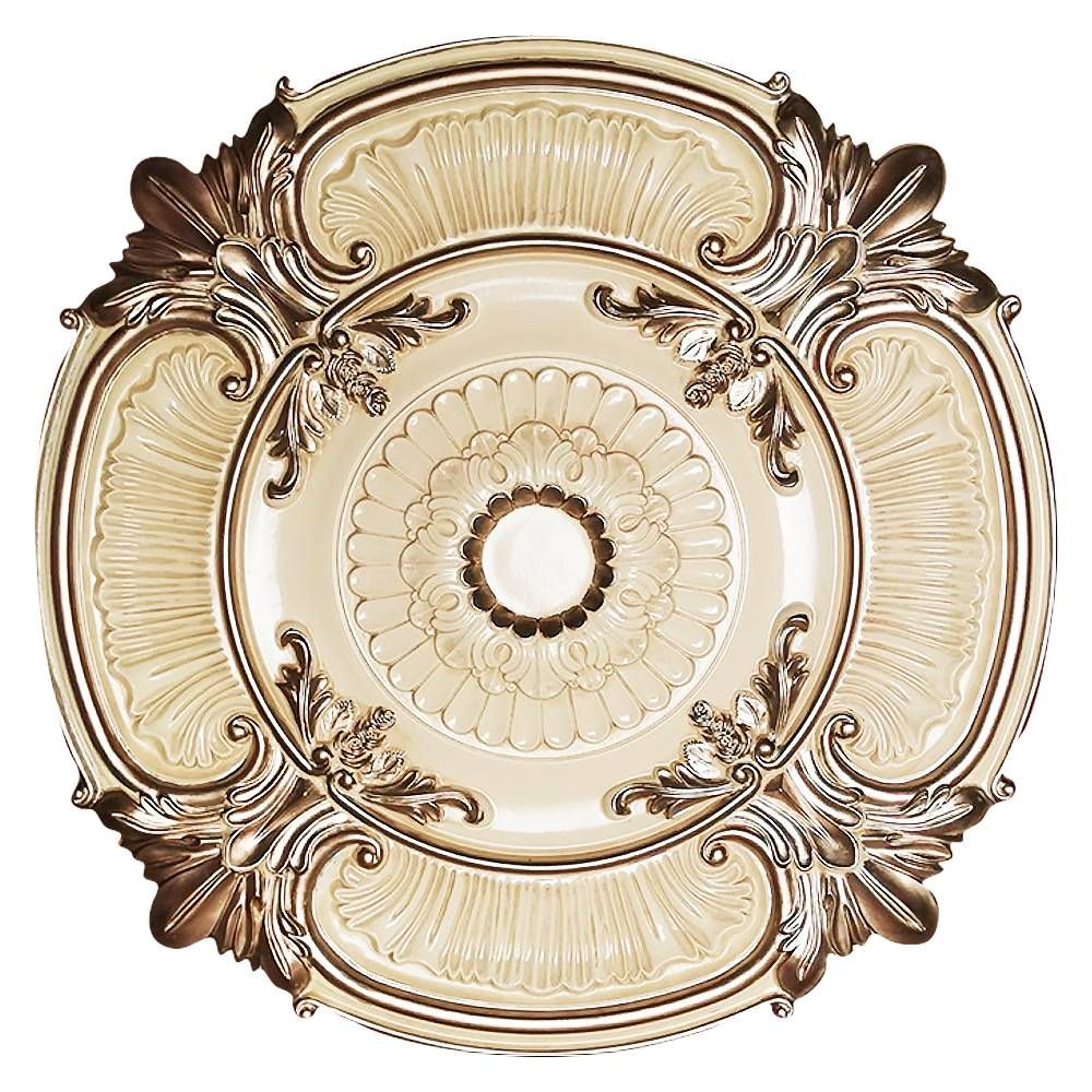 Banruo European Style PU Ceilings  Medallion For Interior Lighting Decor