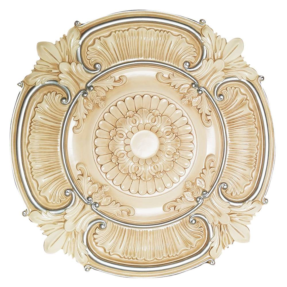 Banruo European Style Round PU Ceilings Medallion For Interior Lighting Decor