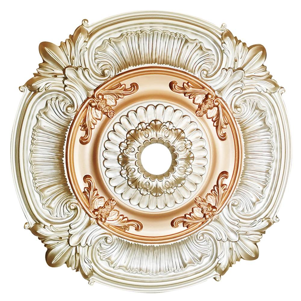 Banruo Luxurious PU Ceiling Medallion For Villas Building Decoration Standard Ceiling Tiles