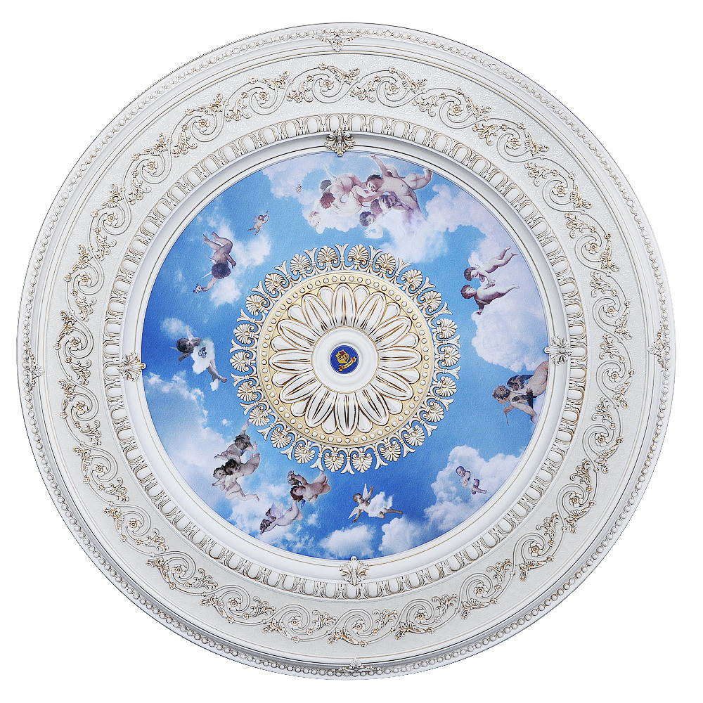 Banruo Cute Blue  PS Polystyrene Decorative Ceiling Medallions for Children's Room
