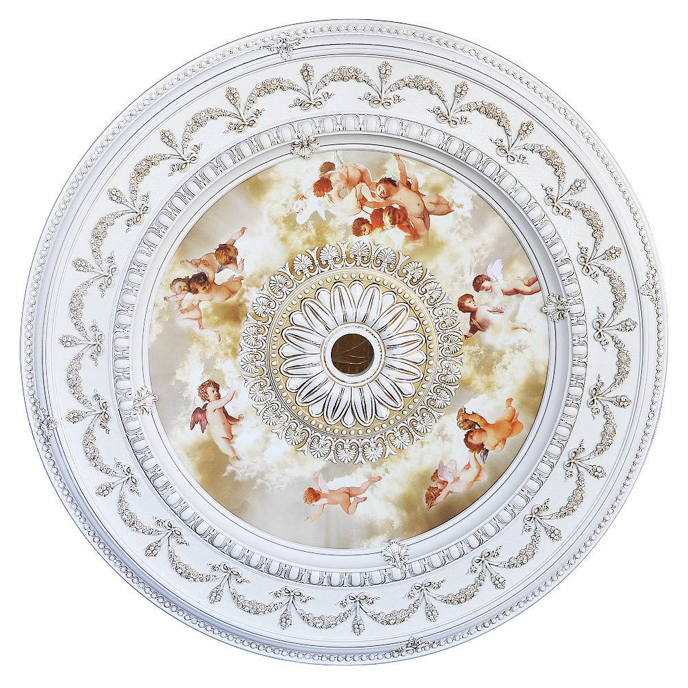 Banruo Classic PS Polystyrene Cheap Ceiling Medallions for Lights
