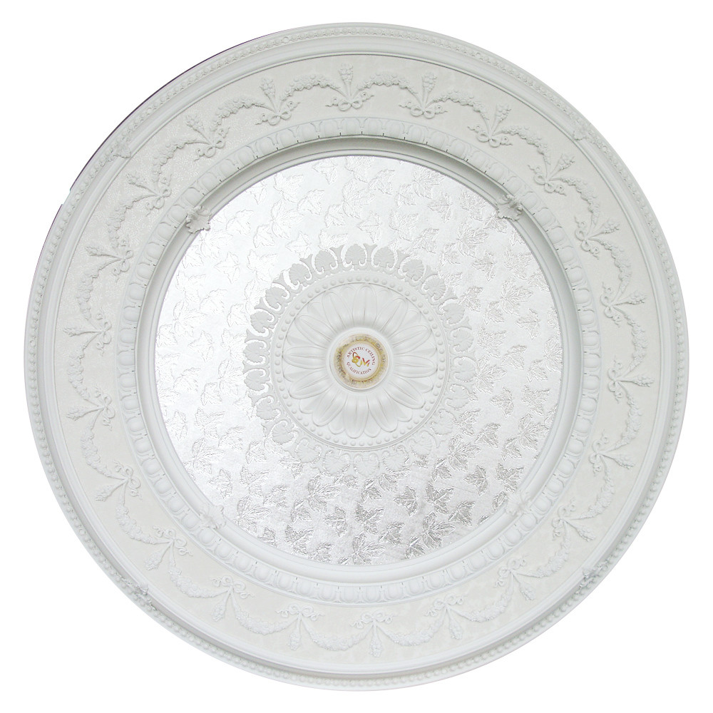 Banruo Elegant White Classic PS Polystyrene Ceiling Medallions Tiles Ceiling Decoration