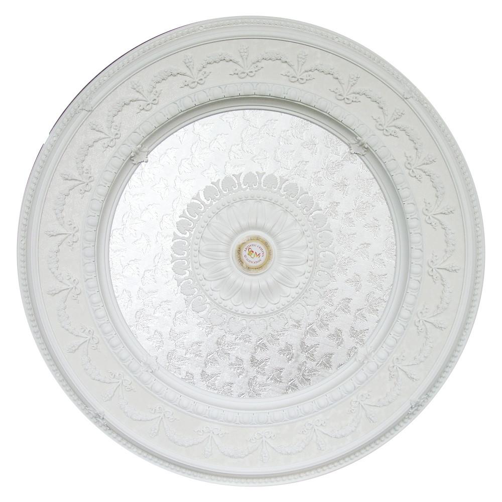Banruo Elegant White Classic PS Polystyrene Ceiling Medallions Tiles Ceiling Decoration