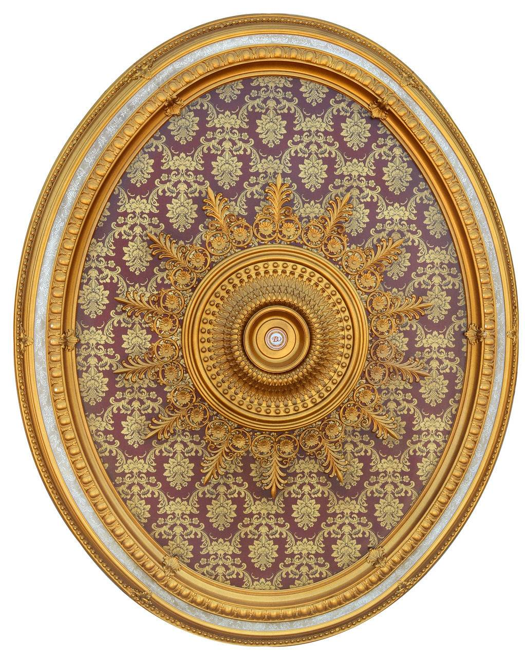 Banruo Antique Golden Polystyrene Artistic Architectural Ceiling Medallions