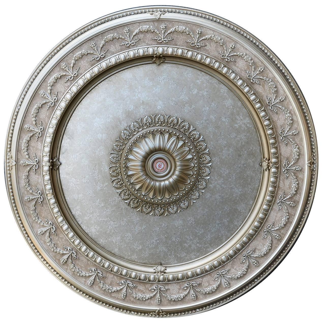 Banruo Antique Sliver Polystyrene Interior Ceiling Medallions Tile Designs