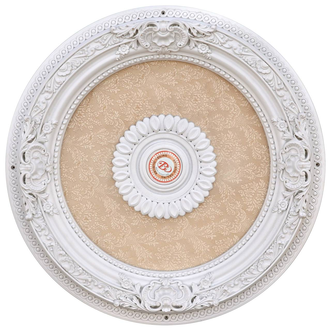 Banruo Hot Sale Artistic Polystyrene Decorative Ceiling Medallions For Interior Decor