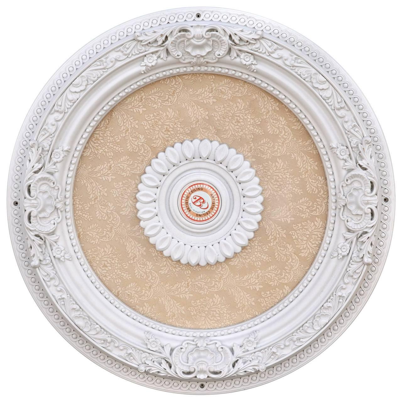 Banruo Hot Sale Artistic Polystyrene Decorative Ceiling Medallions For Interior Decor