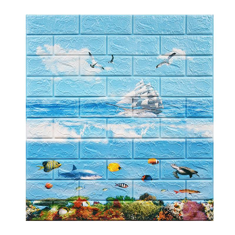 New Arrival Children Room Decorative Panel 3D Foam Wallpaper