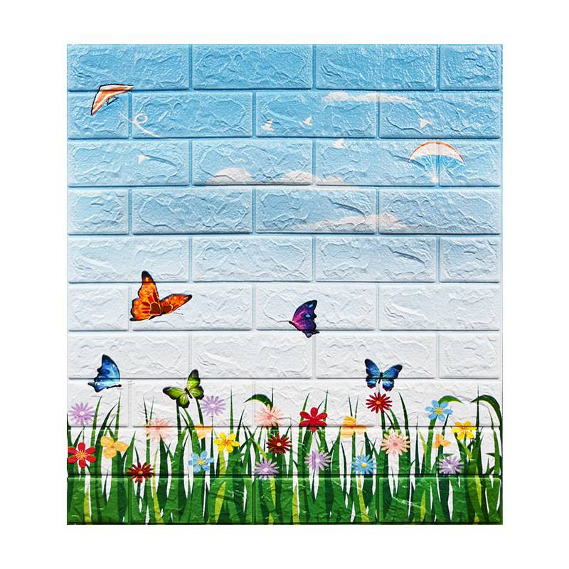 New Modern Panel 3D Wall paper Home Decoration Brick For Children Room Decor