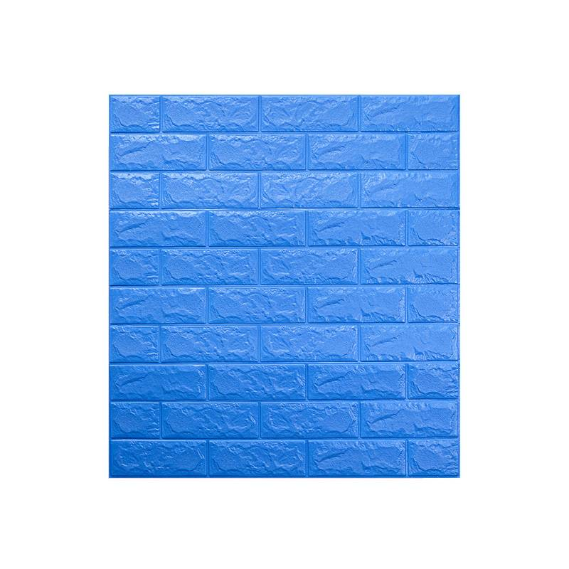 Cheap Price 2020 Pop Project Designer Brick Blue Wallpaper Sticker 3D