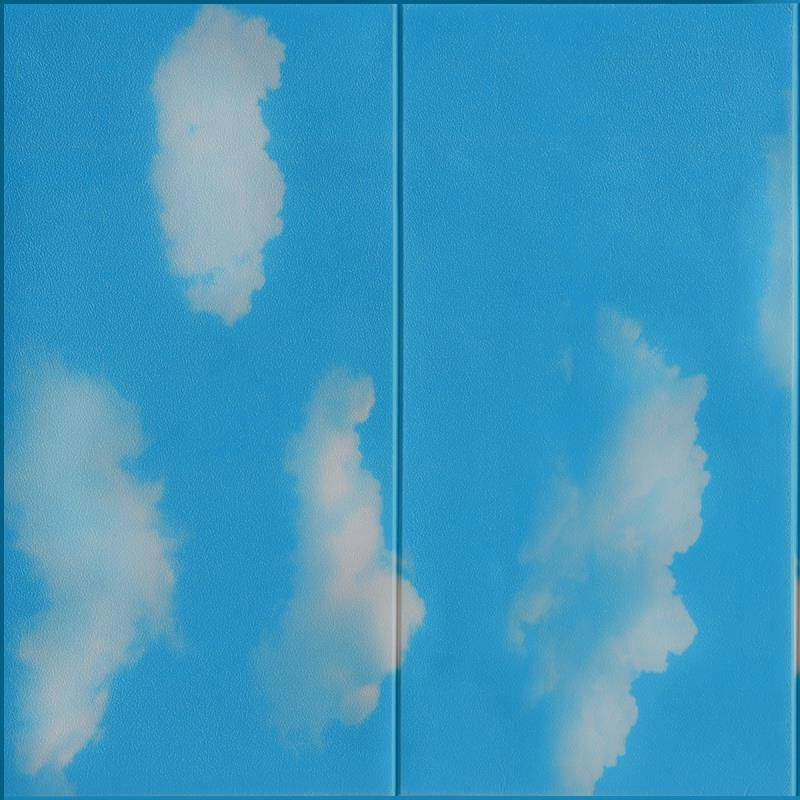 Wholesale 2020 Pop Blue Sky 3D Foam Wallpaper Brick