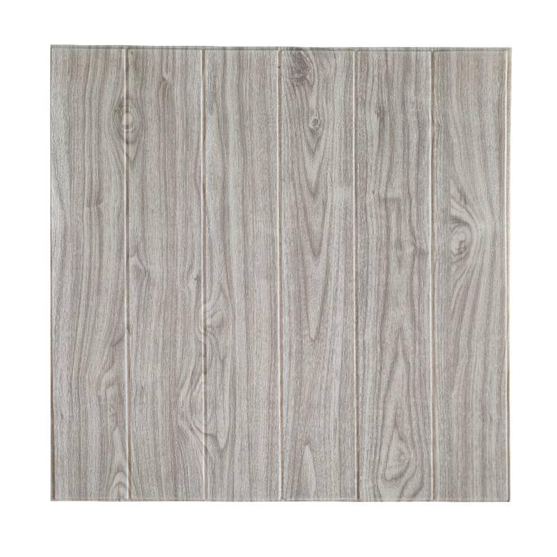 High Quality 2020 Pop Wood Grain 3D Foam Tile Wallpaper Brick