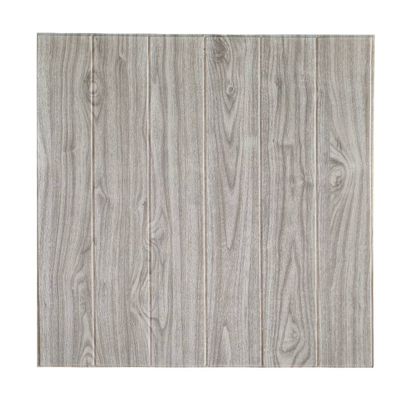 High Quality 2020 Pop Wood Grain 3D Foam Tile Wallpaper Brick