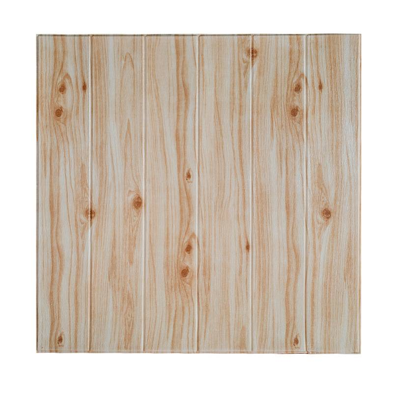 High Quality 2020 Modern Wood 3D Foam Wall Panels Paper Brick For Home Decor